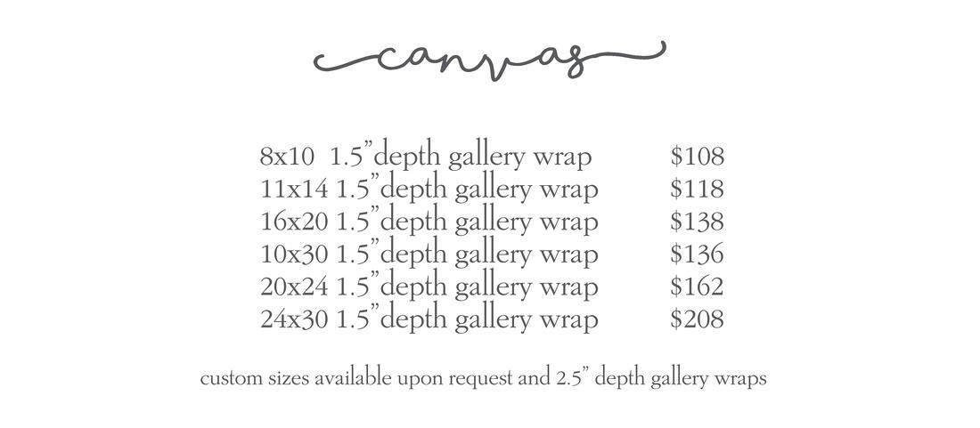 canvas price